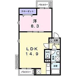 ピュアメゾンⅡ[1階]の間取り