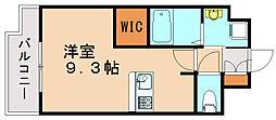 福岡県福岡市博多区住吉3丁目の賃貸マンションの間取り
