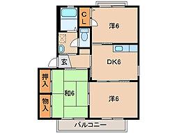 エクセレンス六十谷II[2階]の間取り