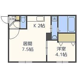 SUONO南円山[203号室]の間取り