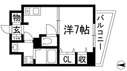 兵庫県川西市寺畑1丁目の賃貸マンションの間取り
