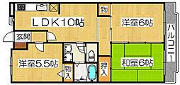 メゾン・M・香ヶ丘[3階]の間取り