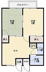 宮沢ハイツ[203号室]の間取り