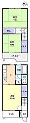 [テラスハウス] 千葉県船橋市薬円台6丁目 の賃貸【/】の間取り