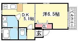 KTIレジデンス湊川[102号室]の間取り