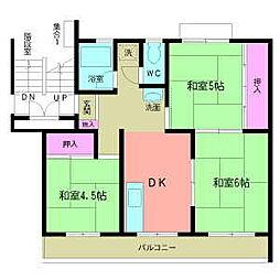大倉マンション[3階]の間取り