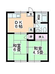 山崎荘[105号室]の間取り