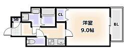 南海線 難波駅 徒歩5分の賃貸マンション 7階1Kの間取り