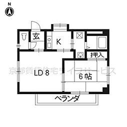 コモハウス[502号室]の間取り