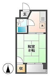 東山レジデンス[2階]の間取り