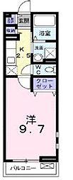 広島県福山市曙町5丁目の賃貸アパートの間取り