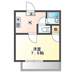 愛知県名古屋市南区中割町3丁目の賃貸マンションの間取り
