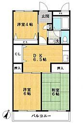 第11モロマンション[3階]の間取り