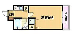 大阪府大阪市都島区都島本通3の賃貸マンションの間取り