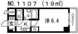 ラッキーセンター河堀口マンション[5階]の間取り