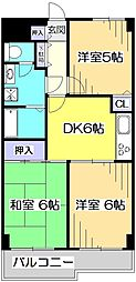 東京都国分寺市東恋ヶ窪4丁目の賃貸マンションの間取り