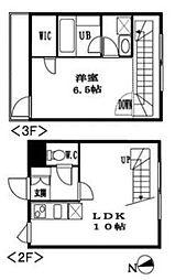 フォーチュンコート代々木[3階]の間取り