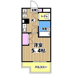 カリスヤマガ[4階]の間取り