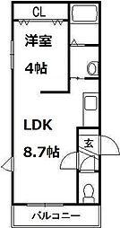 北海道札幌市西区琴似三条4丁目の賃貸マンションの間取り