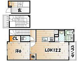 ラインハイム三萩野[3階]の間取り