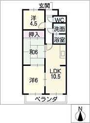 マンションミタニ[3階]の間取り