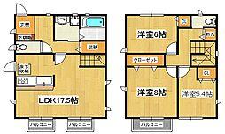 [一戸建] 千葉県市川市原木2丁目 の賃貸【/】の間取り