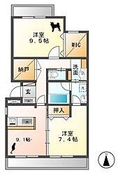 プレジールリエゾン[2階]の間取り
