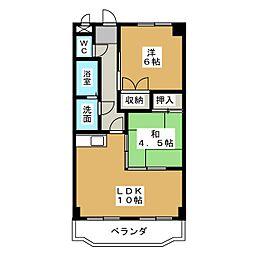 サンライズ入場[5階]の間取り