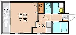 プリエール箱崎[2階]の間取り
