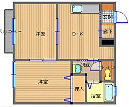 長崎県長崎市鳴見町の賃貸アパートの間取り