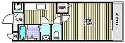 シエル金剛[1階]の間取り