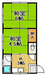 坂田マンション[3階]の間取り
