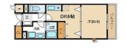 フォンテーヌ南館[2階]の間取り