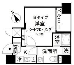 アイディ西五反田 9階1Kの間取り