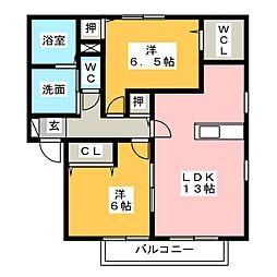 レジデンス神ノ倉A[1階]の間取り
