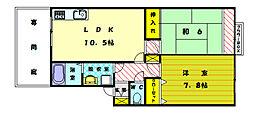 ガーデンライフ塩浜[2階]の間取り