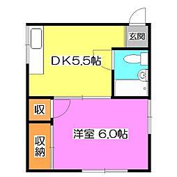 池田ハイツ[2階]の間取り