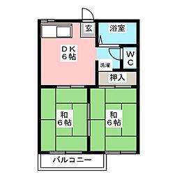 フォーブル平ヶ野[2階]の間取り