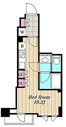 東急東横線 都立大学駅 徒歩11分の賃貸マンション 4階ワンルームの間取り