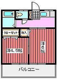 第13丸三マンション[1階]の間取り