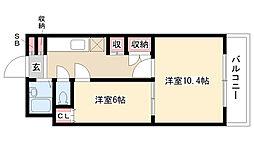 愛知県名古屋市南区本城町1丁目の賃貸マンションの間取り