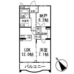 プランドールメゾン 2階[203号室]の間取り