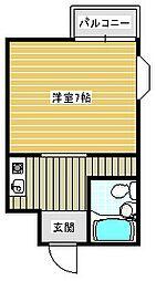 御崎マンション[502号室]の間取り