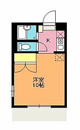 埼玉県上尾市向山1丁目の賃貸アパートの間取り