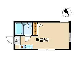 神奈川県鎌倉市小町2丁目の賃貸アパートの間取り