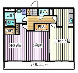 埼玉県さいたま市南区白幡5丁目の賃貸マンションの間取り