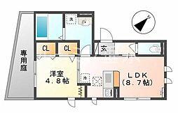 アトール恵比須[1階]の間取り
