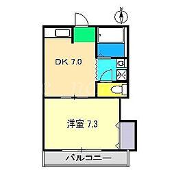 ハイツGLAY[2階]の間取り