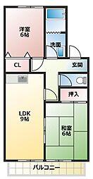 グランジュール三木[1階]の間取り
