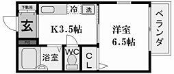 Step 夙川[2階]の間取り